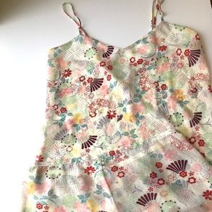 Calvin Klein lounge P.J.'s set floral cami shorts